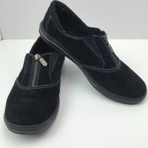 Keds Pacey Zip Black Suede Shoes